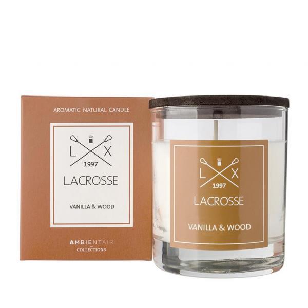Duftkerze im Glas  Ambientair LACROSSE Vanilla & Wood 200g
