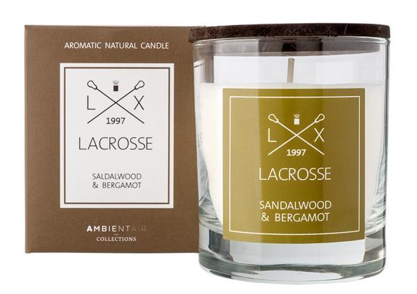 Duftkerze im Glas  Ambientair LACROSSE Sandwood & Bergamot 200g