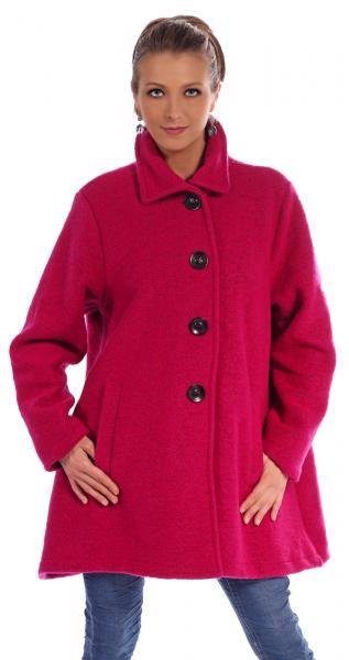 Wollmantel gefüttert zum Knöpfen im aktuellen Oversize Look Pink