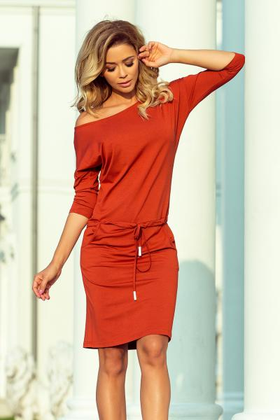 "Sommerkleid Casual von Numoco ""Chilltime"" Rost Orange"