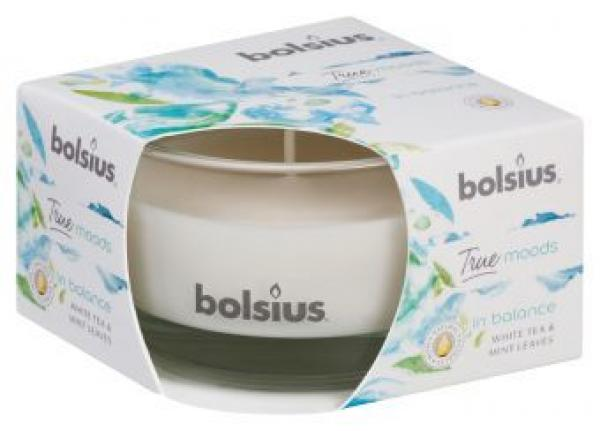 "Duftkerzenglas von Bolsius True Moods in balance ""White Tea & Mint Leaves"""