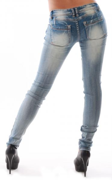 Jeans skinny used Look stylische helle Waschung