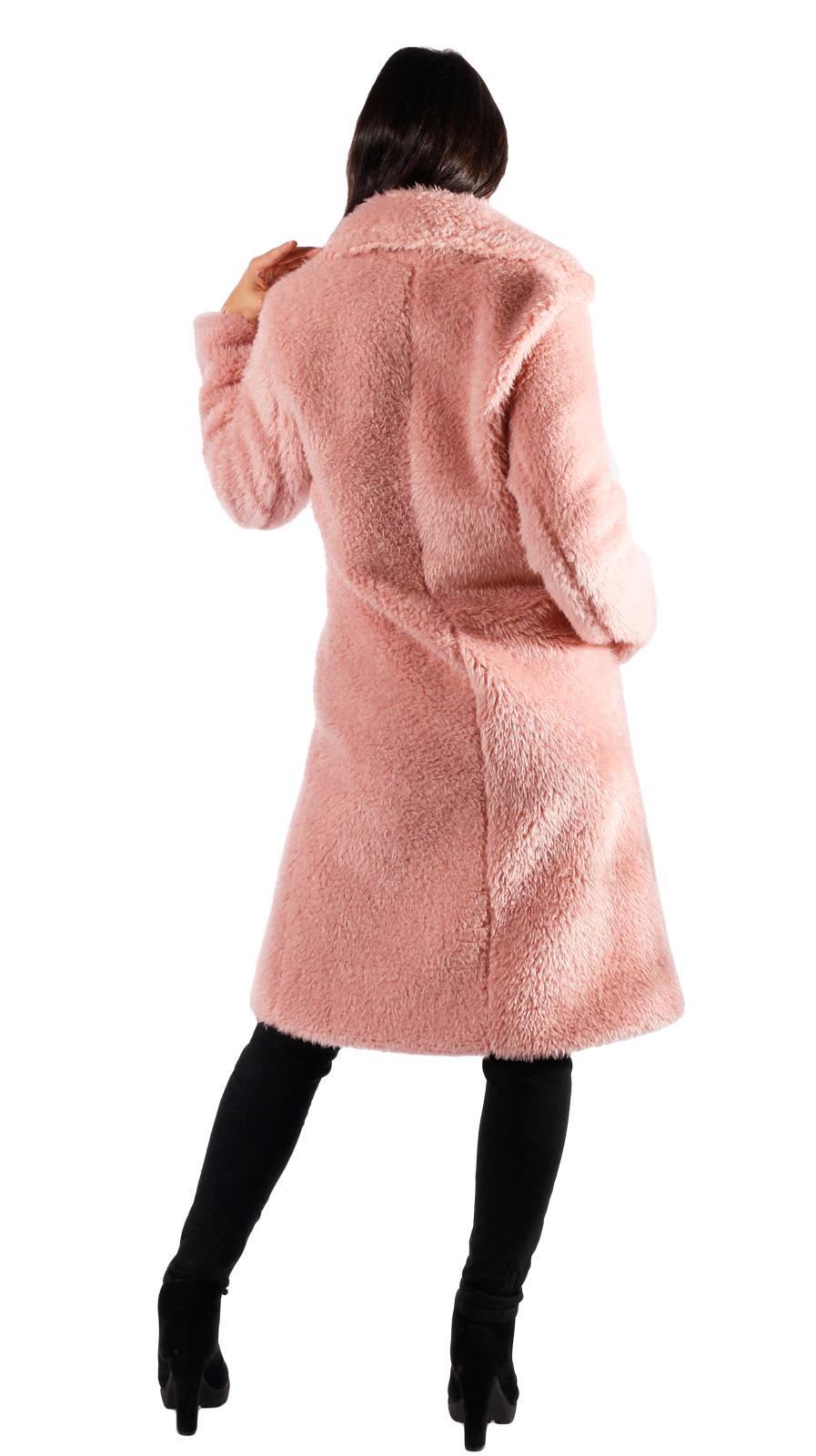 khujo Damen Mantel TYRA rosa langer leichter Sommermantel aus Lyocell Trenchcoat