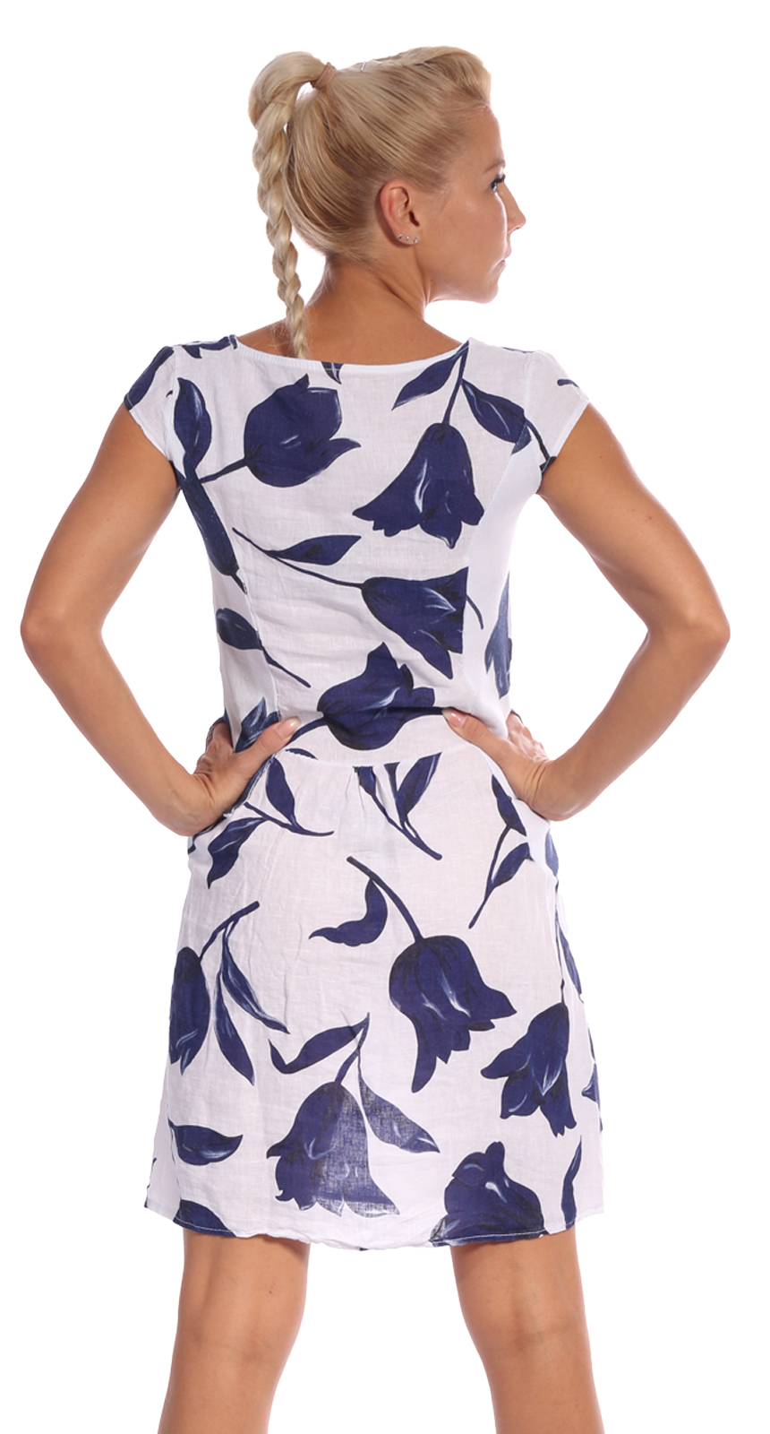 Leinen Kleid Kurzarm Hot Summer Days Exotic Tulip - Mode aus Karlsruhe