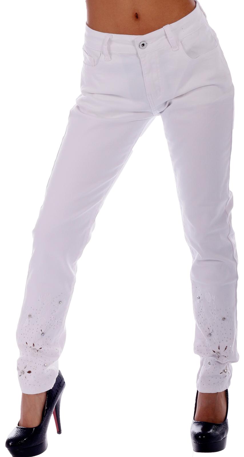 Jeans skinny mit strassverzierungen - Stickerei applikationen ...