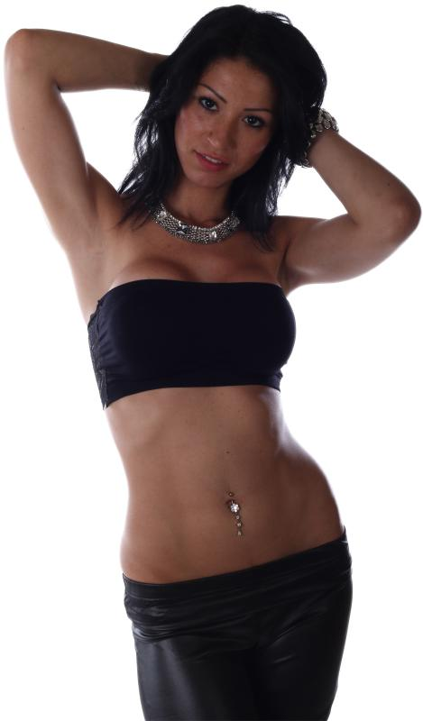 Push Up Bandeau Tops Schwarz