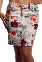 Rock Mini Skirt stylish angesagter Exotic Flower Print